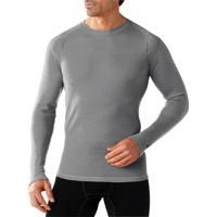 Smartwool Midweight Base Layer Crew Top - Light Gray Heather