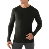 Smartwool Midweight Base Layer Crew Top - Olive Heather
