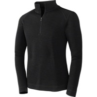 Smartwool Midweight LS Base Layer Zip Top - Black