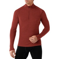 Smartwool Midweight LS Base Layer Zip Top - Moab Rust