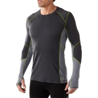 Smartwool Lightweight Long Sleeve Base Layer Top - Graphite