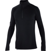 Ibex Woolies 2 Zip Neck Long Sleeve Base Layer Top - Black