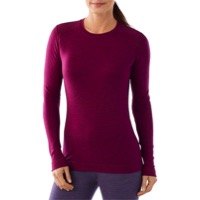 Smartwool Midweight Crew Long Sleeve Top - Berry Heather