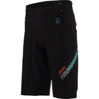 100% Airmatic Men's Shorts w/Liner - Fast Times Black