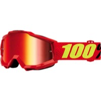 100% Accuri Goggles - Saarinen/Mirror Red Lens