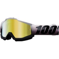 100% Accuri Goggles - Invaders/Mirror Gold Lens