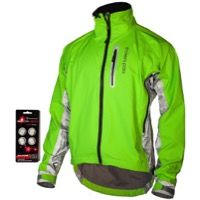 Showers Pass HI-VIS Elite E-Bike Jacket - Neon Green/Silver Reflective