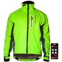 Showers Pass HI-VIS Elite E-Bike Jacket - Neon Green/Black Reflective