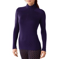 Smartwool Midweight Zip LS Base Layer Top - Mountain Purple Heather