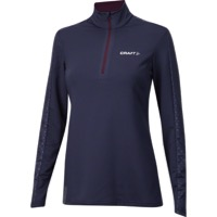 Craft Facile Women's Embossed Halfzip - Blue