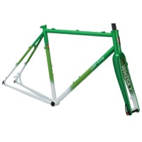 All-City Macho King Limited Disc Frameset - Green/White Fade