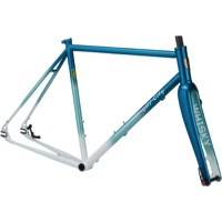All-City Nature Boy SSXC 853 Disc Frameset - Teal/White Fade
