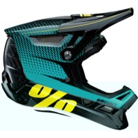 100% Aircraft Carbon Full Face MIPS Helmet - R-Core Teal