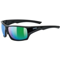 Uvex 222 Polarized Sunglasses - Black/Green (Polarized Mirror Green Lenses)