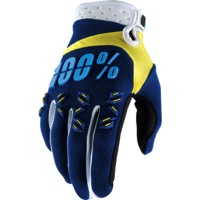 100% Airmatic Gloves - Navy/Yellow