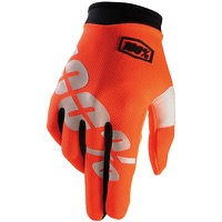 100% iTrack Youth Gloves - Cal-Trans Orange