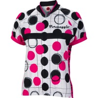 World Jerseys Formaggio Bubble Jersey - White/Fuchsia/Black