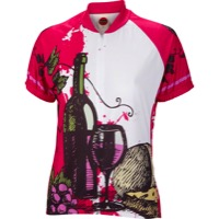 World Jerseys Wine Time Jersey - White/Red