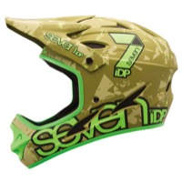 7iDP M-1 Full Face Helmet - Green Camo/Flo Lime