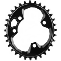 AbsoluteBlack Rotor Oval Traction Chainring - 76mm BCD