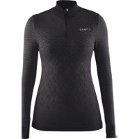 Craft Wool Comfort Women's Zip Long Sleeve Top - Black