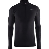 Craft Wool Comfort Men's Zip Long Sleeve Top - Black