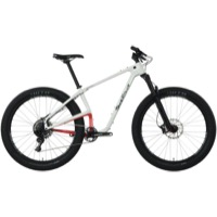 Salsa Woodsmoke Carbon GX1 27.5+ Complete Bike - White/Red