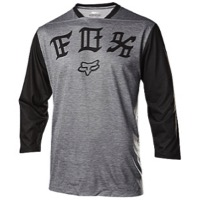 Fox Racing Indicator 3/4 Sleeve Jersey 2017 - Heather Grey/Black
