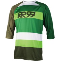 Royal Drift 3/4 Jersey - Army/Olive/Grass/White