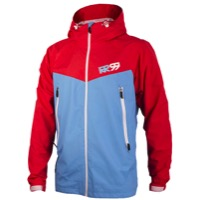 Royal Matrix Jacket - Cyan/Red