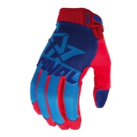 Royal Racing Victory Gloves - Cyan/Navy/Red