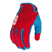 Royal Racing Quantum Gloves - Red/Sky Blue