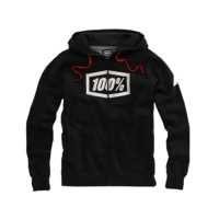 100% Syndicate Zip Hoody - Black Heather/White