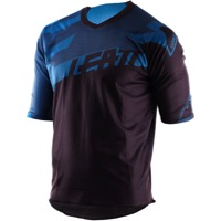 Leatt DBX 3.0 Short Sleeve Jersey - Black/Blue