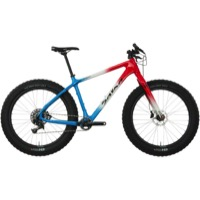 Salsa Beargrease Carbon X1 Complete Bike 2017 - Red/White/Blue Fade