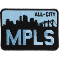All-City MPLS Patch - Black/Blue