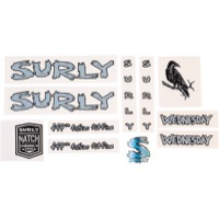 Surly Wednesday Frame Decal Set with Headbadge