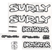 Surly Instigator Frame Decal Set w/Headbadge