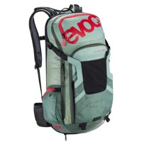 EVOC FR Trail Team Protector Backpack - Light Petrol/Olive