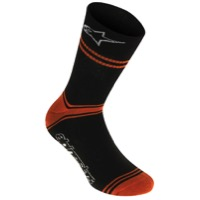 Alpinestars Summer Riding Socks - Black/Orange