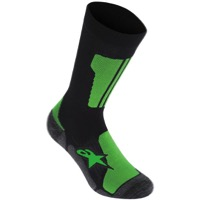 Alpinestars Crew Riding Socks - Green/Black