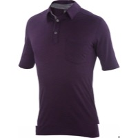 Ibex OD Crosstown Men's Polo Shirt - Purple Fauna Heather