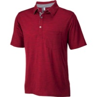Ibex OD Crosstown Men's Polo Shirt - Red Ant Heather