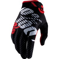 100% Ridefit Gloves - Black/Red
