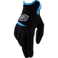 100% Ridecamp Women's Gloves - Black/Cyan