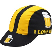 World Jerseys I Love Beer Cycling Cap - Black/Gold