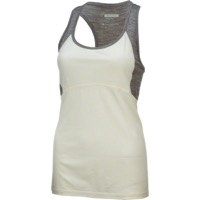Ibex W2 Women's Racerback Tank - Birch/Stone Gray Heather