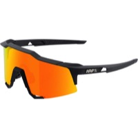 100% SpeedCraft Sunglasses - Soft Tact Black/HiPER Red Multilayer Mirror Lens