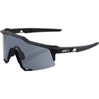 100% SpeedCraft Sunglasses - Soft Tact Black/Smoke Lens
