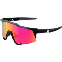 100% SpeedCraft Sunglasses - Soft Tact Graphite/Purple Multilayer Mirror Lens